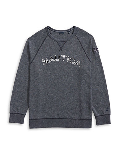 Nautica Big and Tall Long-Sleeve Pullover-NAVY-3X Big