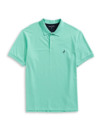 Nautica Big and Tall Short-Sleeve Polo-GREEN-4X Big
