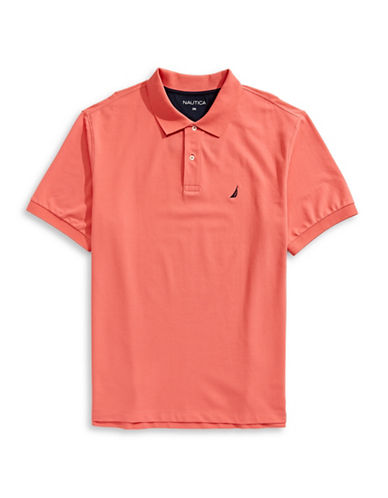 Nautica Big and Tall Short-Sleeve Polo-CORAL/PINK-4X Big
