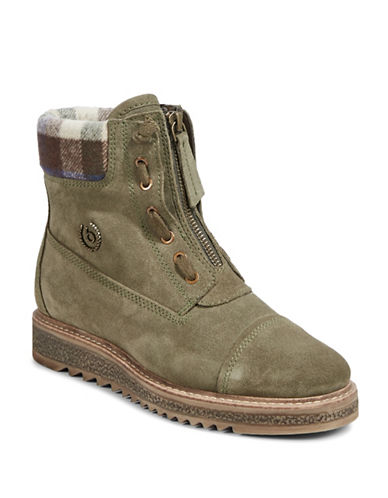 Bugatti Fee Leather Street Boots-GREEN-EUR 36/US 6