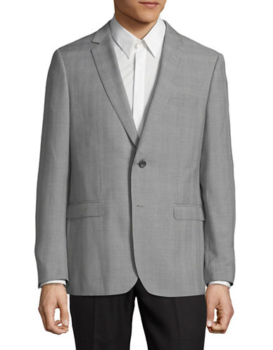 Hawkins And Kent Check Sports Jacket-GREY-44 Regular