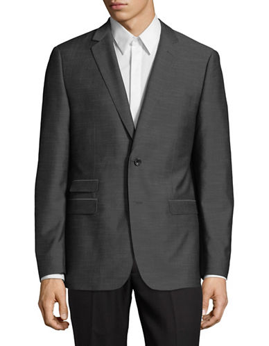 Hawkins And Kent Notch Sports Jacket-GREY-42 Short