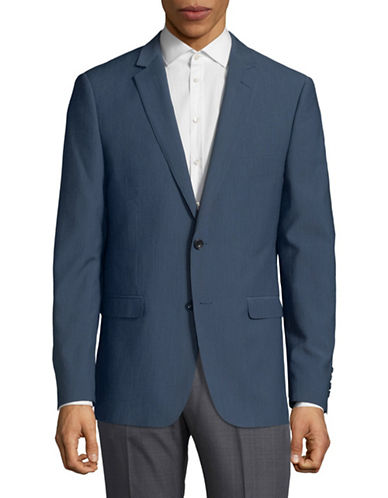 Hawkins And Kent Notch Lapel Suit Jacket-BLUE-42 Short