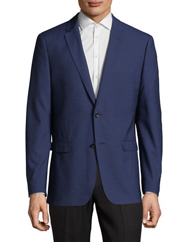 Hawkins And Kent Notch Lapel Jacket-BLUE-44 Short