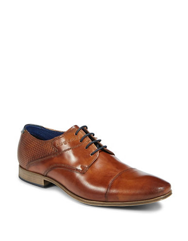 Bugatti Lace-Up Leather Dress Shoes-BROWN-EU 41/US 8