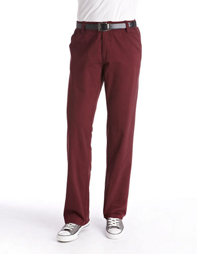 Bruun and stengade Modern Chino dark red 32 34