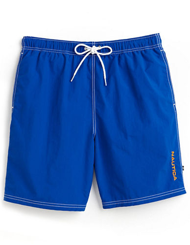 Nautica Nylon Swim trunks-BRIGHT BLUE-Large
