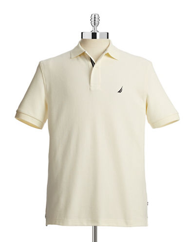 Nautica Solid Performance Deck Shirt-SAIL-X-Large