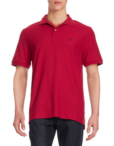 Nautica Solid Performance Deck Shirt-NAUTICA RED-Medium