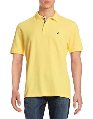 Nautica Solid Performance Deck Shirt-CORN-X-Large