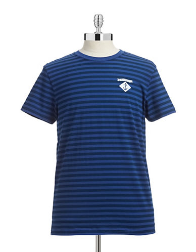 Nautica Striped Logo Graphic T-Shirt-BLUE-Medium 87507230_BLUE_Medium