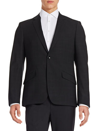 Sondergaard Muted Print Sportcoat-BLACK-40 Regular