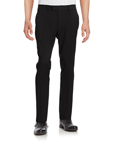 Sondergaard Slim Fit Tuxedo Pants-BLACK-40X32