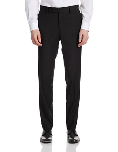Sondergaard Windowpane Slim-Fit Trouser Pants-BLACK-32X32