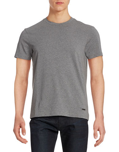 Bruun And Stengade Seoul Crew Neck T-Shirt-GREY-X-Large
