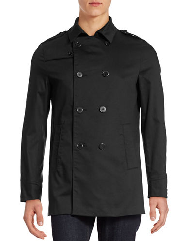Bruun And Stengade Barcelona Trench Coat-BLACK-X-Large plus size,  plus size fashion plus size appare