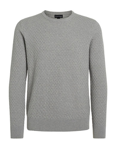 Bruun And Stengade Hannibal Crew Neck Sweater-GREY-X-Large 88527157_GREY_X-Large