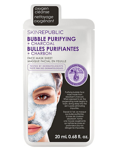 Skin Republic Bubble Purifying and Charcoal Face Mask Sheet-NO COLOR-One Size