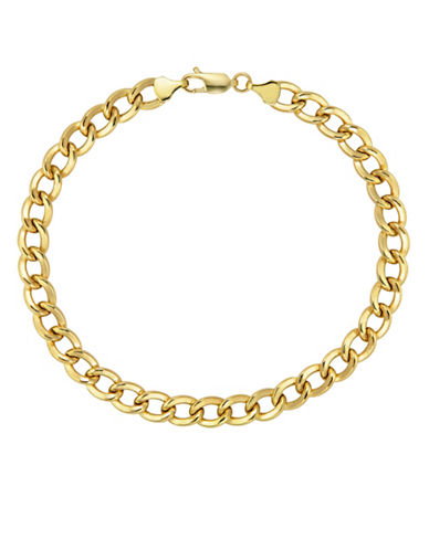 Fine Jewellery Yellow Gold Polished Hollow Link Bracelet-YELLOW GOLD-One Size