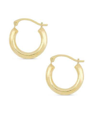 Fine Jewellery 10K Yellow Gold Round Hoop Earrings-GOLD-One Size
