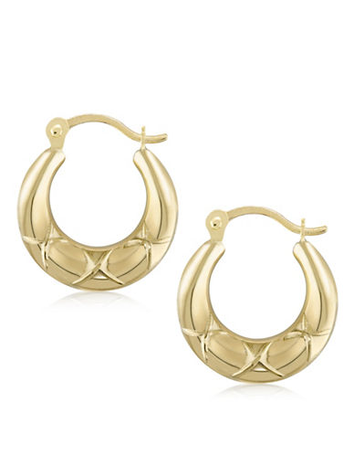 Gold Celebration 14K Gold Hoop Earrings-GOLD-One Size