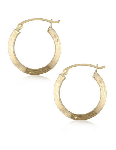 Gold Celebration 14K Yellow Gold Satin Hoop Earrings-GOLD-One Size