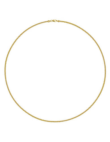 Fine Jewellery Yellow Gold Hollow Milled Wheat Chain Necklace-GOLD-One Size