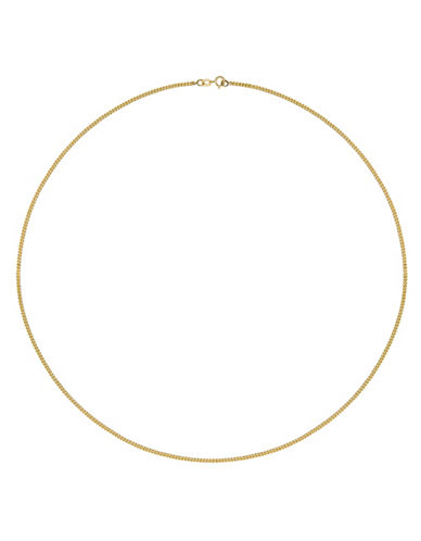 Fine Jewellery Solid Yellow Gold Double Curb Link Necklace-GOLD-One Size