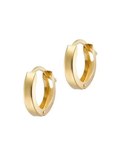 10 K Gold Huggie Earrings by Fine Jewellery
