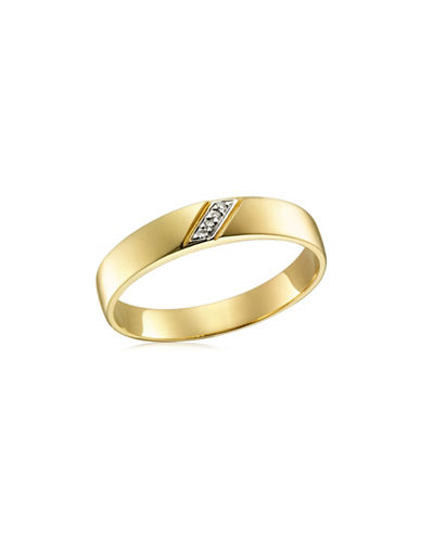 Fine Jewellery I Love You Gold and Wedding Band with 0.02 TCW diamonds-DIAMOND-11