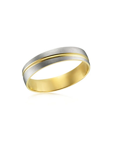 Fine Jewellery Two-Tone 10K Gold Wedding Band-TWO TONE-10