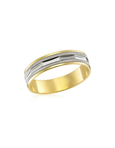 Fine Jewellery Two-Tone 10K Gold Wedding Band-TWO TONE-12