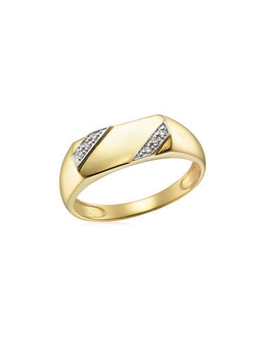 Fine Jewellery Gold Wedding Band with 0.03 TCW Diamonds-DIAMOND-10