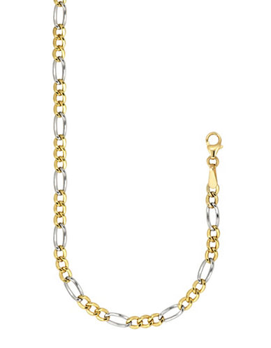Fine Jewellery 10K Gold Two-tone Hollow Link Chain Necklace-TWO TONE GOLD-One Size