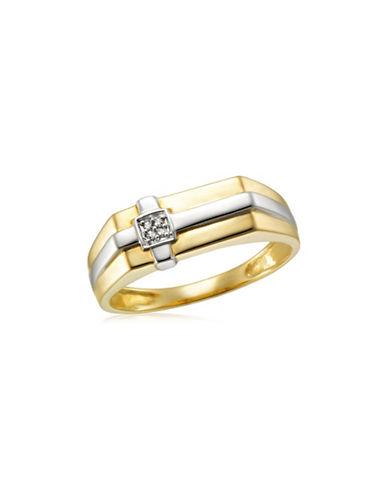 Fine Jewellery Two-Toned .02TCW Diamond Cross Ring-TWO TONE-9