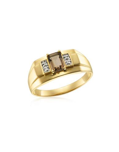 Fine Jewellery Diamond, Smokey Topaz and Yellow Gold Ring-SMOKEY TOPAZ-12