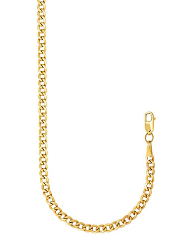 Fine Jewellery Solid Yellow Gold Curb Link Bracelet-YELLOW GOLD-One Size