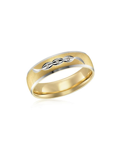 Fine Jewellery Diamonds, Rhodium and Yellow Gold Wedding Band-GOLD-11