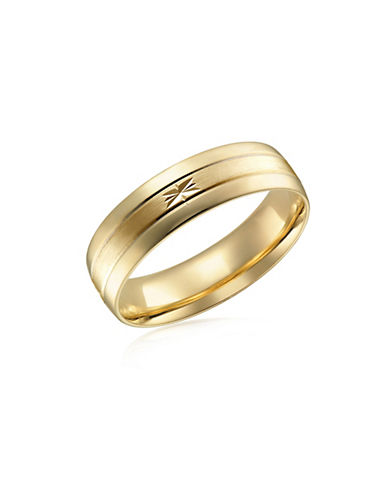 Fine Jewellery Two-Tone 10K Gold Wedding Band-GOLD-11