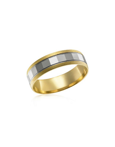 Fine Jewellery Two-Tone 10K Gold Wedding Band-TWO TONE-9