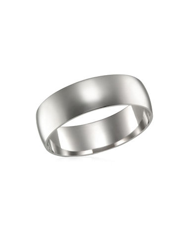 Fine Jewellery Polished White Gold Band-WHITE GOLD-11