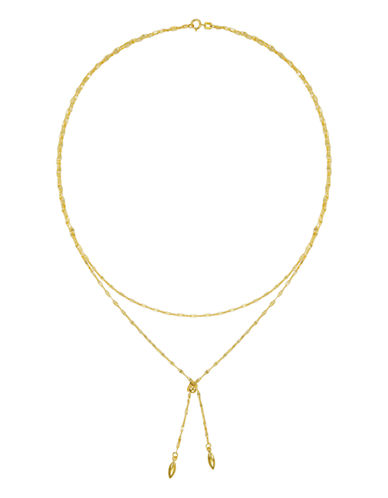 Fine Jewellery 14K Gold Double-Strand Tassel Lariat-YELLOW GOLD-One Size
