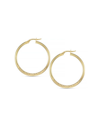 Fine Jewellery 14k Polished Italian Yellow Gold Hoop Earrings-YELLOW GOLD-One Size