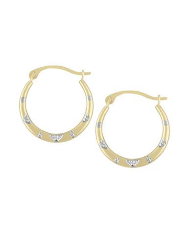 Fine Jewellery 14K Gold Round Hoop Earrings-GOLD-One Size