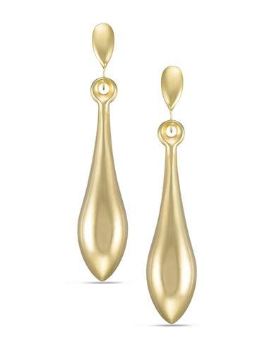 Fine Jewellery 14K Gold Teardrop Earrings-GOLD-One Size