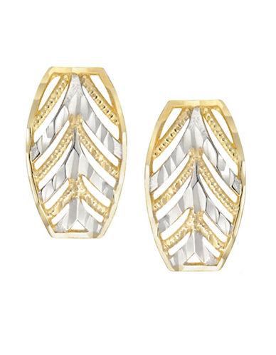 Fine Jewellery 14K Two-Tone Filigree Earrings-GOLD-One Size