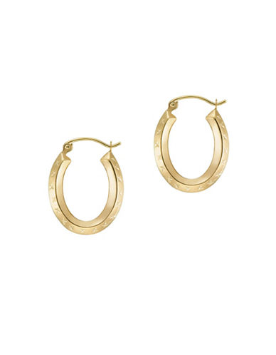 Gold Celebration 14K Yellow Gold Textured Hoops-YELLOW GOLD-One Size