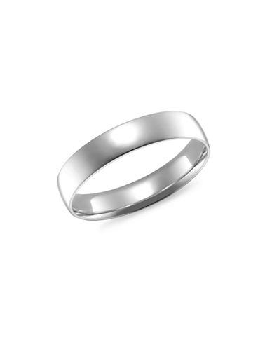 Fine Jewellery 4MM 14KT White Gold Wedding Band-WHITE-11