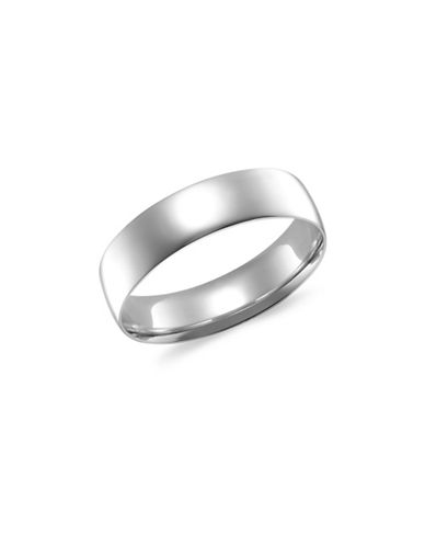 Fine Jewellery 5MM 14KT White Gold Wedding Band-WHITE-11