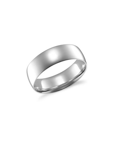 Fine Jewellery 6MM 14KT White Gold Wedding Band-WHITE-7